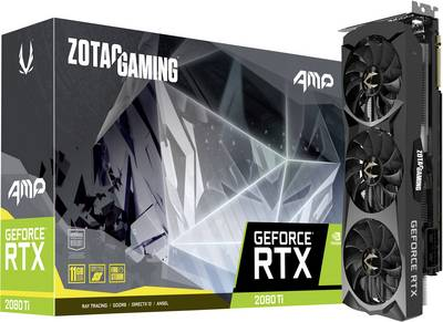 Zotac GPU Nvidia GeForce RTX2080 Ti AMP! Edition 11 GB GDDR6 RAM PCIe x4 DisplayPort, HDMI™, USB-C™