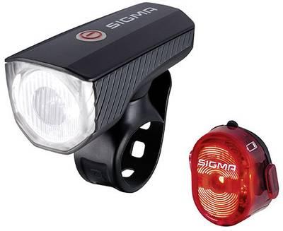 Sigma Bike light set AURA 40 + NUGGET II rechargeable Black