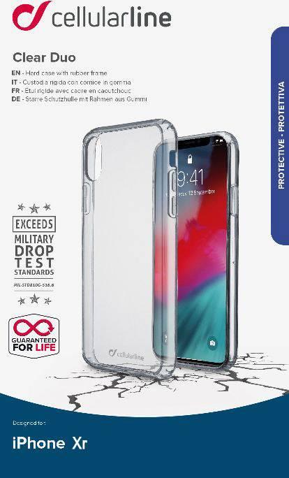 Cellularline Clear Duo - iPhone 8 Plus/7 Plus Custodia rigida
