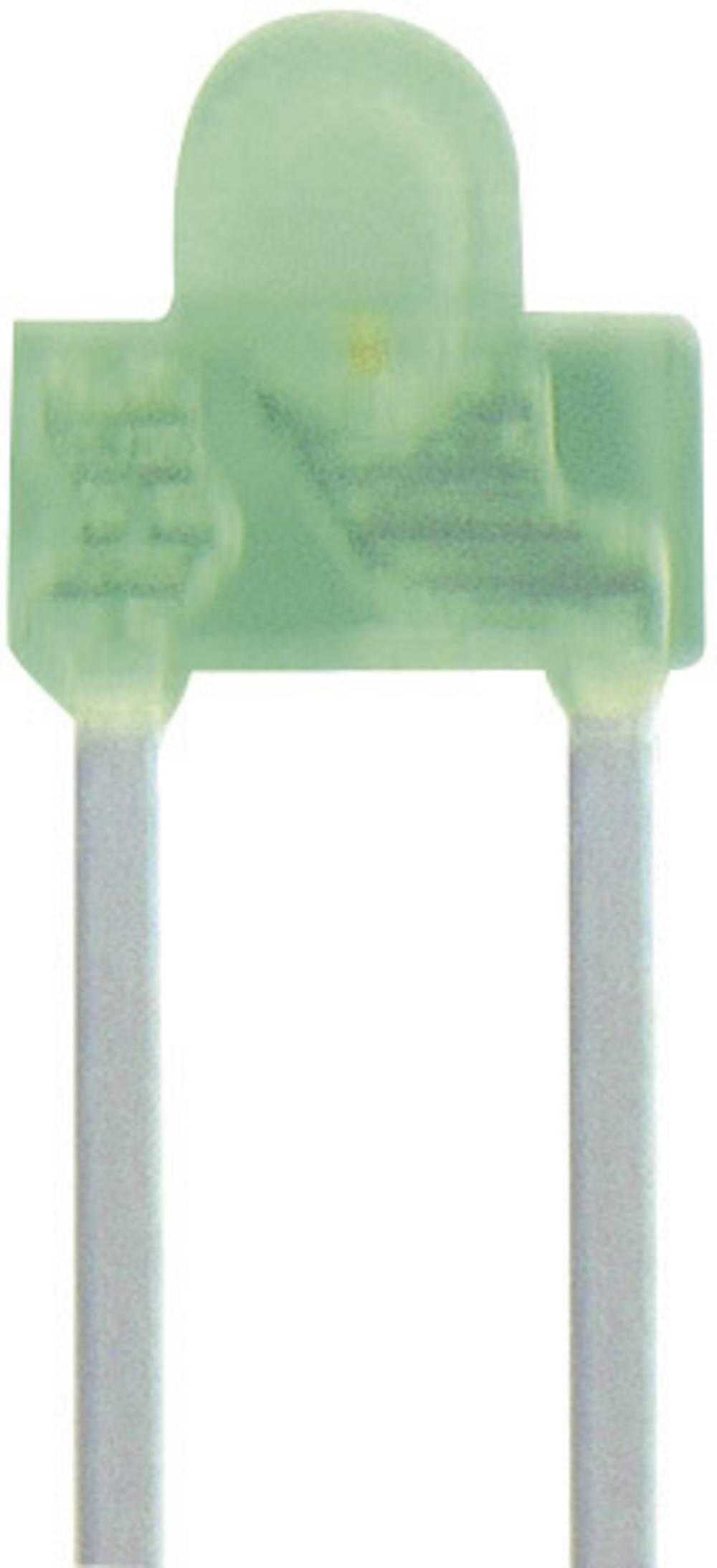 Ožičena LED dioda, zelena, izbočena 1.8 mm 10 mcd 70 ° 20 mA 2.2 V Kingbright L-2060GD