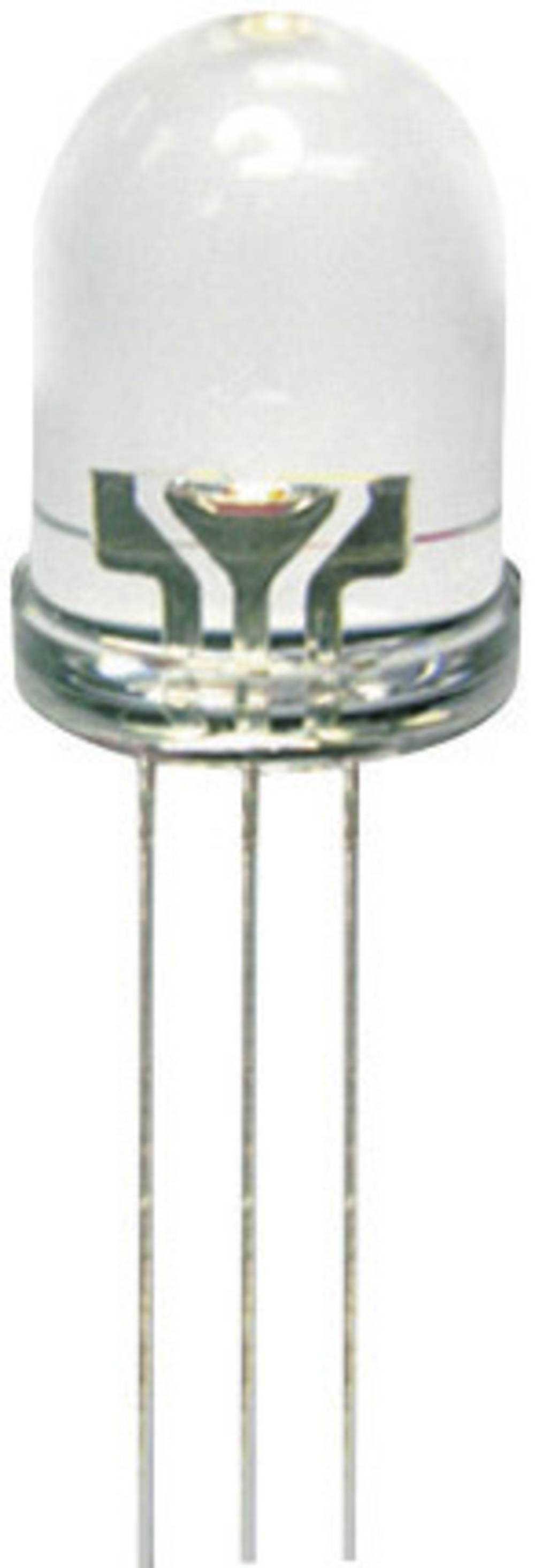 LED dioda, večbarvna rdeča, zelena, okrogla 8 mm 80 mcd, 50 mcd 50 ° 20 mA 2 V, 2.2 V Kingbright L-799EGW