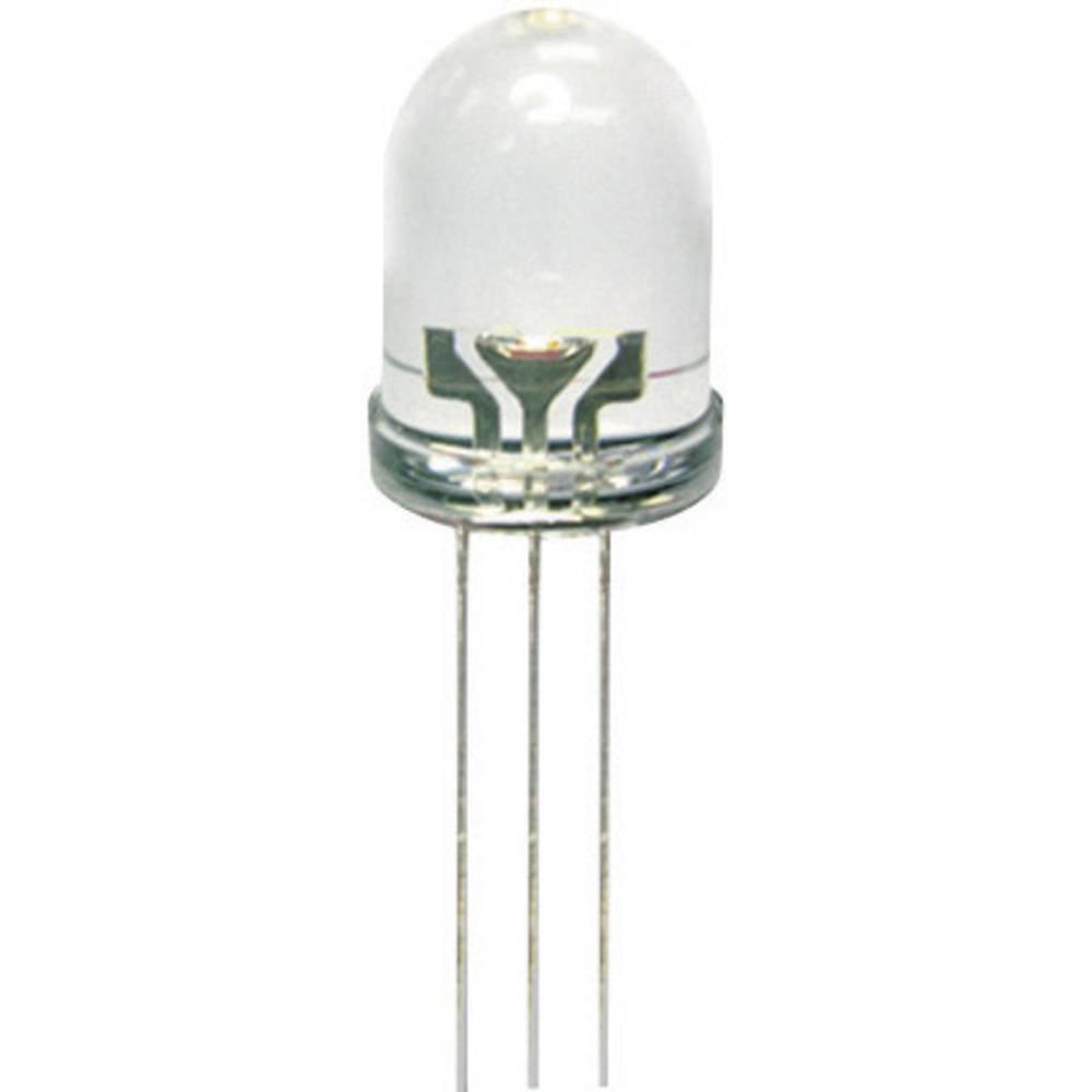 LED dioda, večbarvna rdeča, zelena, okrogla 10 mm 80 mcd, 50 mcd 50 ° 20 mA 2 V, 2.2 V Kingbright L-819EGW
