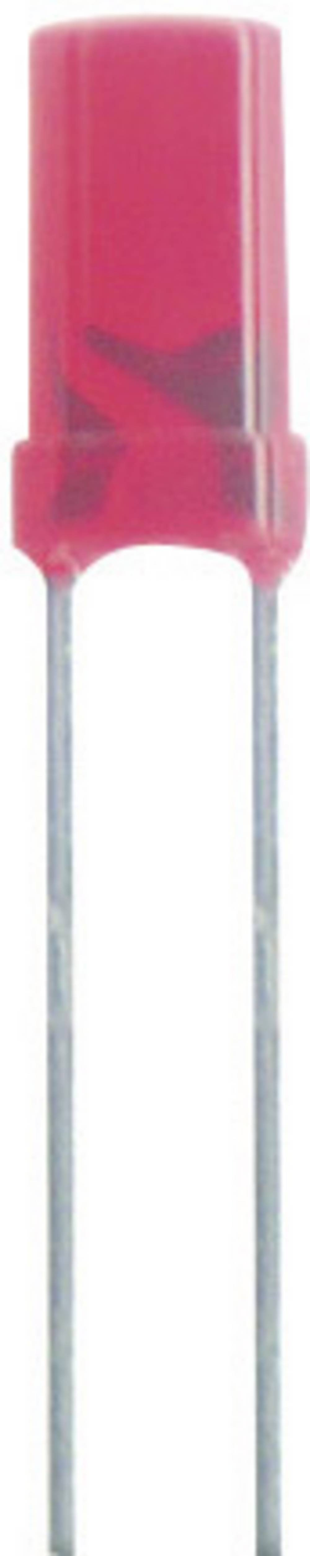 Ožičana LED dioda, zelena, cilindrična 3 mm 4 mcd 70 ° 20 mA 2.2 V Kingbright L-424GDT