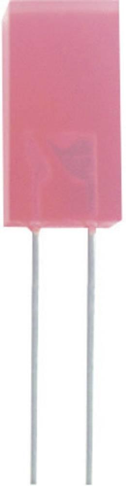 Ožičena LED dioda, rdeča, kvadratna 3 x 3 mm 1 mcd 110 ° 20 mA 2.25 V Kingbright L-714HD