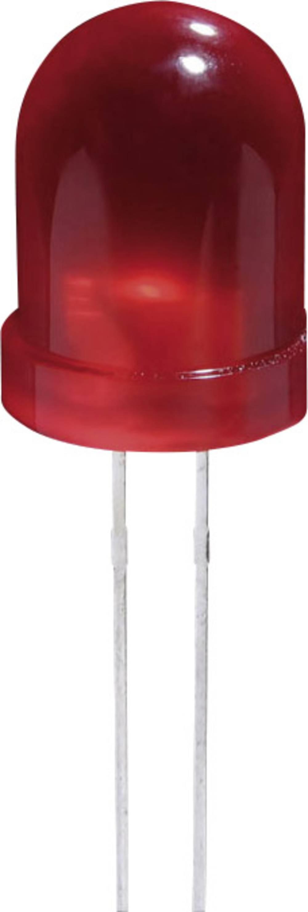 Ožičena LED dioda, rdeča, okrogla 8 mm 3 mcd 60 ° 20 mA 2 V L-793 ID