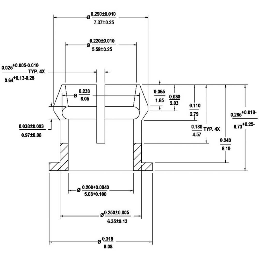 LED podnožje, umetna masa, primerno za LED 5 mm SnapIn Broadcom HLMP-0103