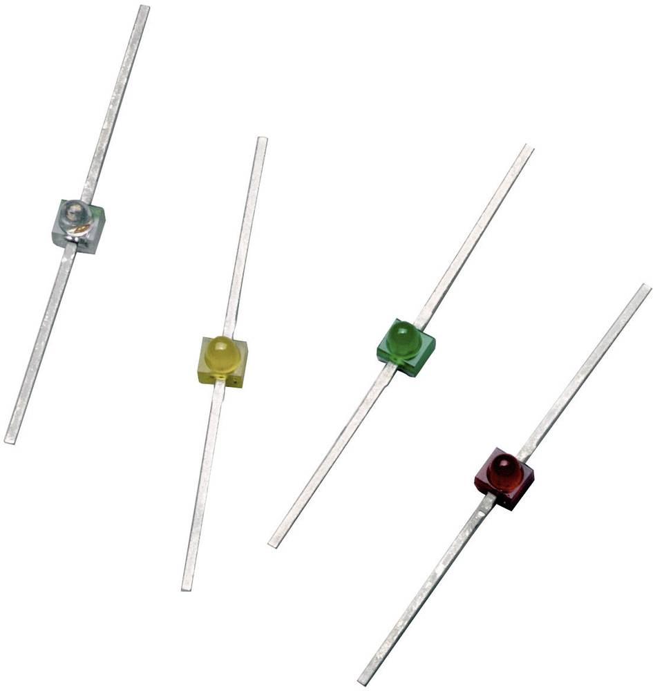 Ožičena LED dioda, zelena, izbočena 1.9 mm 7 mcd 90 ° 10 mA 2.1 V Broadcom HLMP-6500
