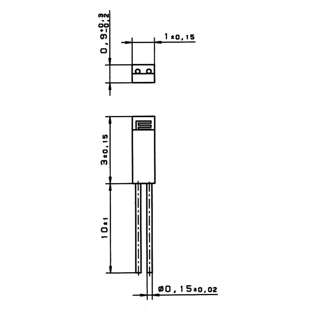Heraeus M310 Pt100 Temperature Sensor 70 Up To 500 C Radial Lead Temp Wiring Diagram