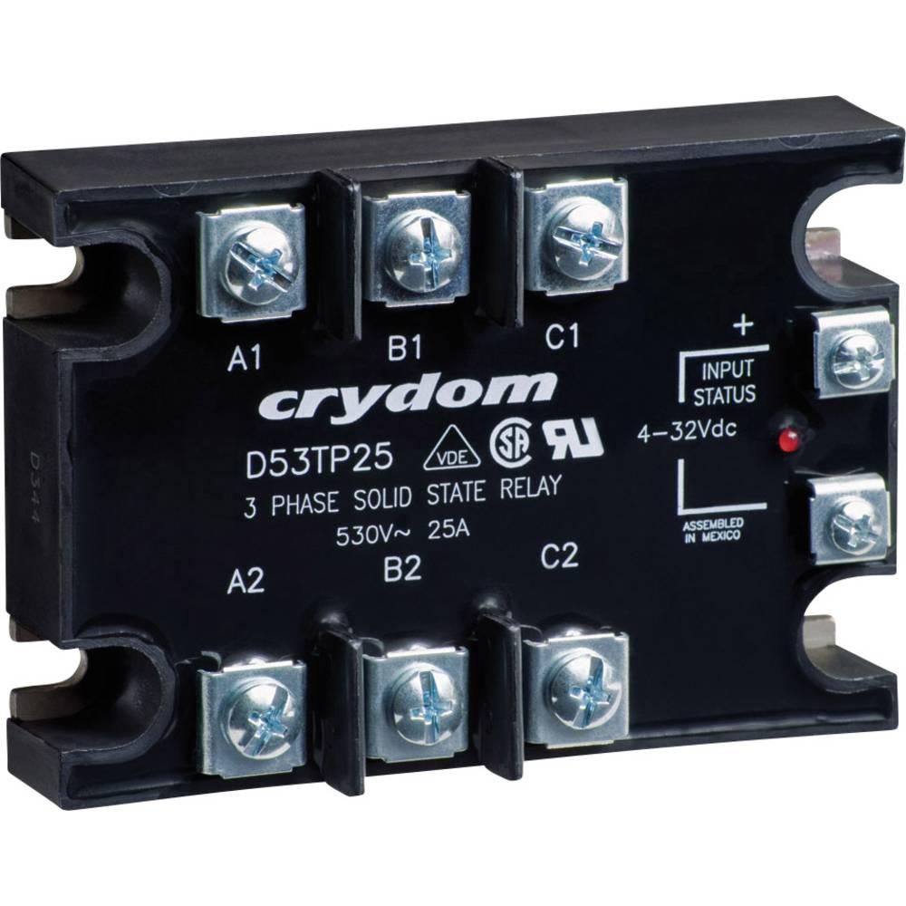 Halvlederrelæ 1 stk Crydom D53TP50D Last-Strøm (maks.): 50 A Koblingsspænding (max.): 530 V/AC Vekslende ved nulspænding