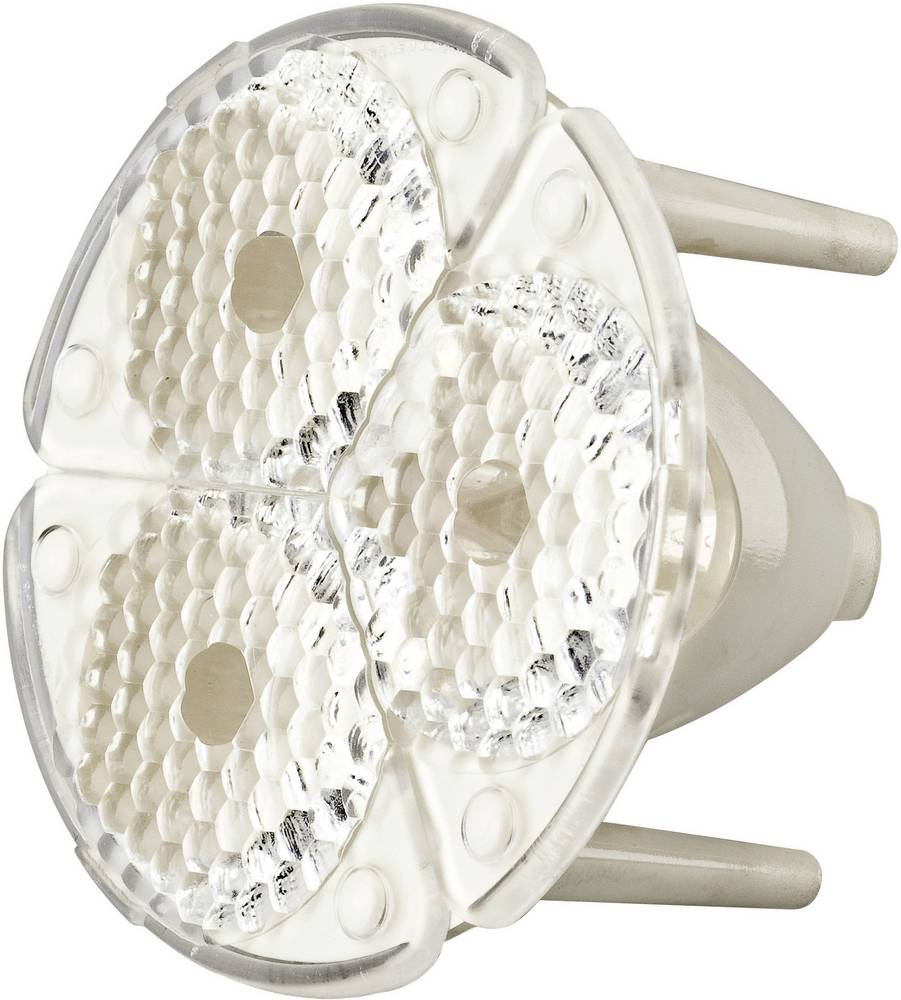 LED optika, čista, rebrasta prozorna, bela 45 ° št. LED diod (maks.): 3 za LED: Seoul Semiconductor® RGB-LED P5II FS3-W1-SSP