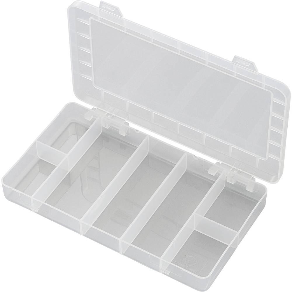 Sortirna škatla (D x Š x V) 192 x 110 x 24 mm PP07-01 št. predalov: 7 fiksna pregraditev