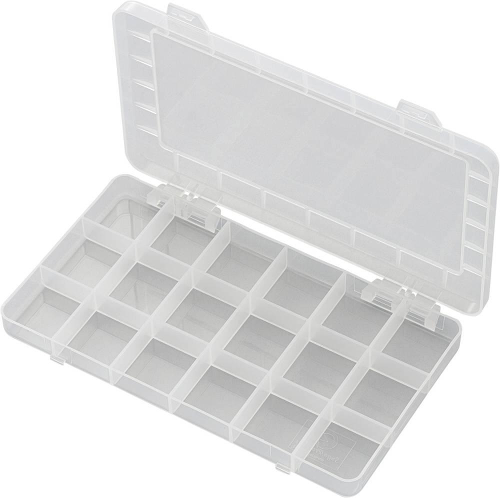 Sortirna škatla (D x Š x V) 195 x 100 x 13 mm PP18-01 št. predalov: 18 fiksna pregraditev