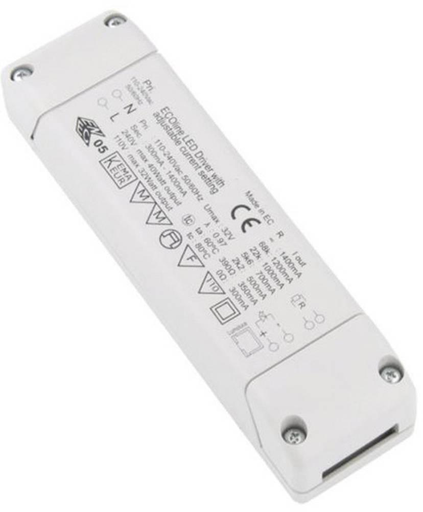 LED-omformer 40 W 32 V/DC Barthelme ECOline 300-1400mA 1-10V dimmbar Driftsspænding maks.: 240 V/AC