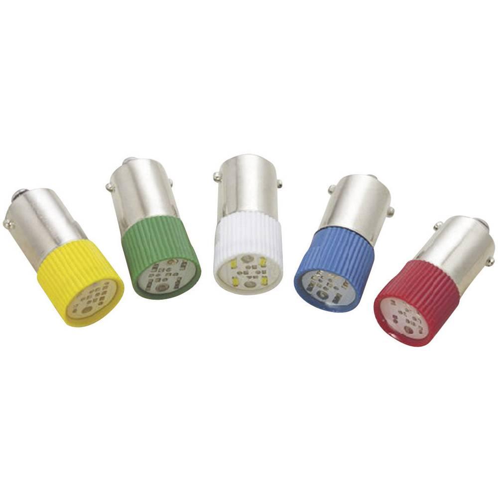 LED žarnica BA9s rdeča 24 V/DC, 24 V/AC 1.2 lm Barthelme 70113036