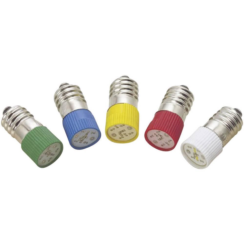 LED žarnica E10 rdeča 24 V/DC, 24 V/AC 1.2 lm Barthelme 70113126