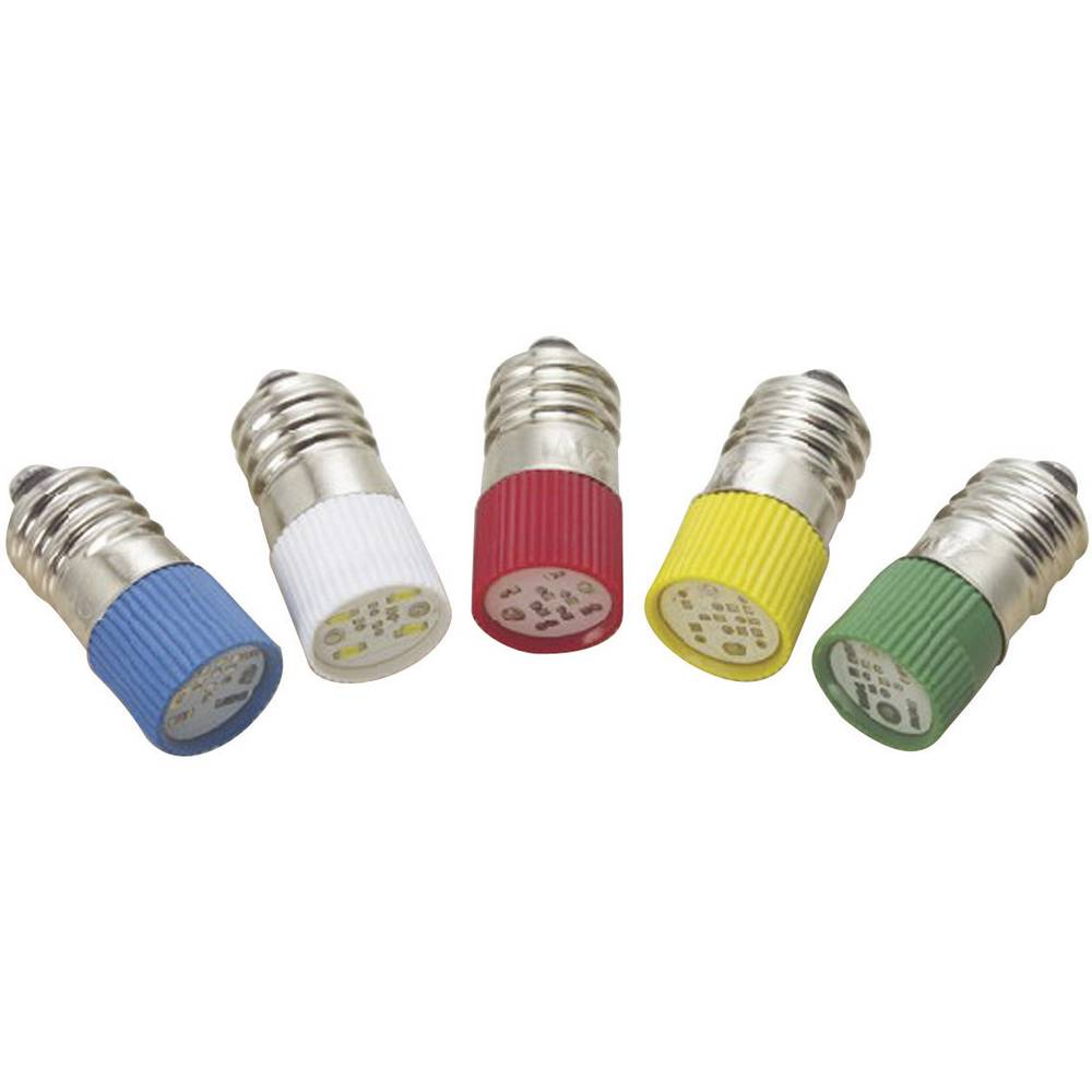 LED žarnica E10 rdeča 220 V/DC, 220 V/AC 0.4 lm Barthelme 70113316
