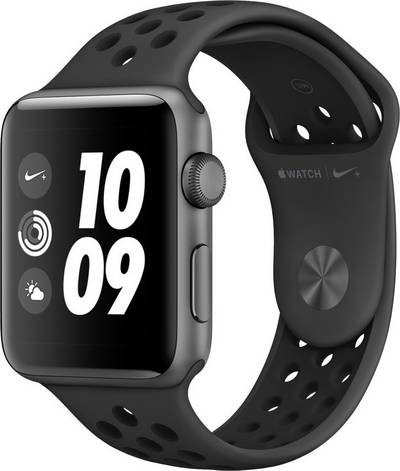 Apple Watch Series 3 Nike+ 42 mm Aluminium Sport strap Anthracite, Black cheapest retail price