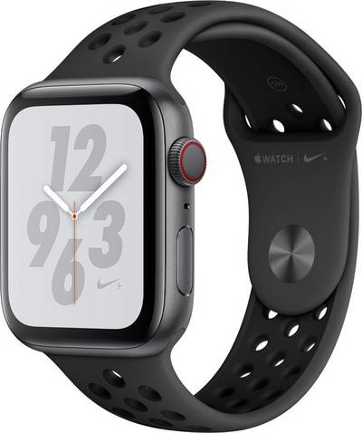 Apple Watch Series 4 Nike+ 44 mm Aluminium Spaceship grey Sport strap Black, Anthracite cheapest retail price