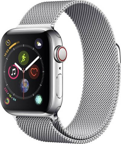 Apple Watch Series 4 Cellular 40 mm Stainless steel Silver Mesh-metal strap Silver cheapest retail price