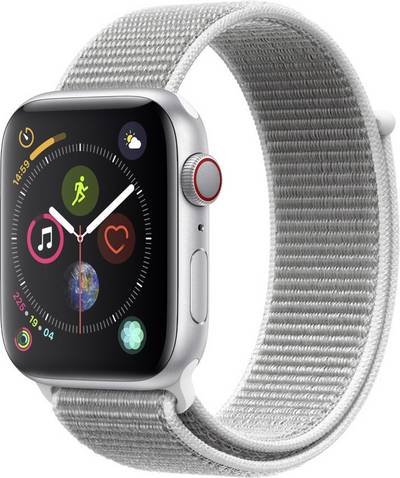 Apple Watch Sport Series 4 44 mm Aluminium Silver Sport strap White cheapest retail price