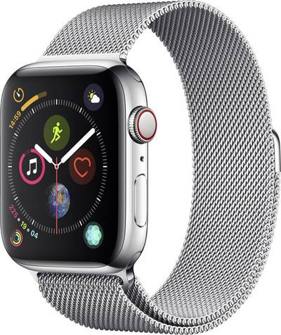 Apple Watch Series 4 Cellular 44 mm Stainless steel Silver Mesh-metal strap Silver cheapest retail price