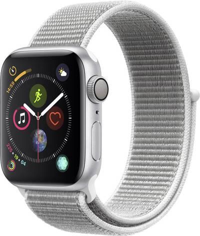Apple Watch Sport Series 4 40 mm Aluminium Silver Sport strap White cheapest retail price