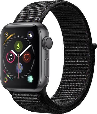 Apple Watch Sport Series 4 40 mm Aluminium Spaceship grey Sport strap Black cheapest retail price
