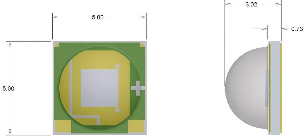 HighPower LED nevtralno bela 260 lm 125 ° 2.9 V 700 mA CREE XMLAWT-00-0000-000LT50E4