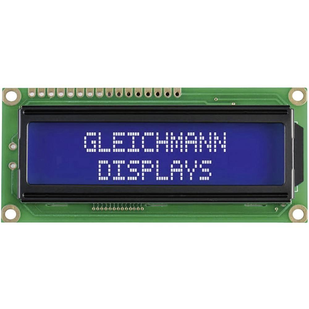 LC-display Gleichmann GE-C1602B-TFH-JT/R (B x H x T) 80 x 36 x 13.2 mm Hvid Sort