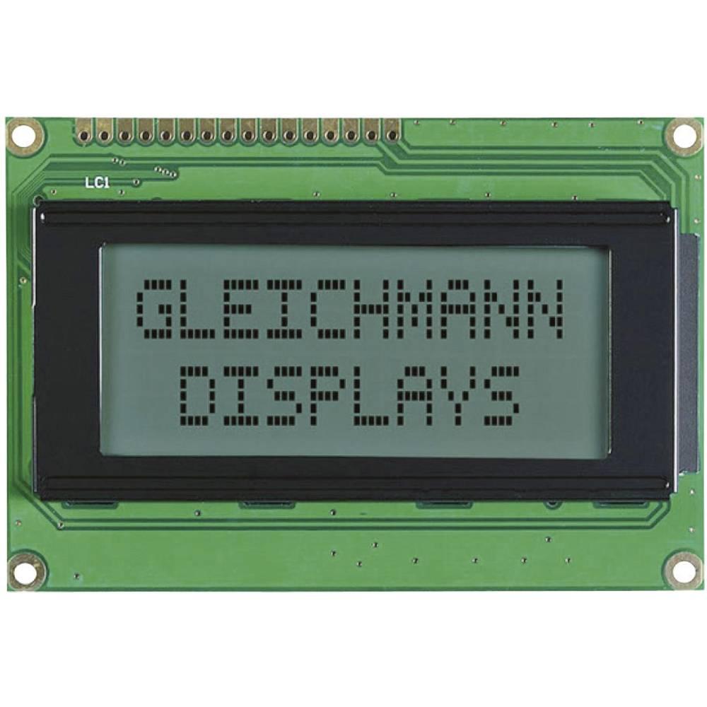 LCD zaslon, bela, črna (Š x V x G) 87 x 60 x 13.6 mm Gleichmann GE-C1604A-TFH-JT/R