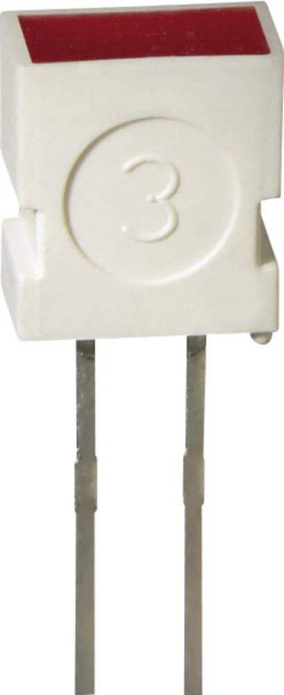 Ožičana LED dioda, žuta, pravokutna 3.65 x 6.15 mm 4 mcd 100 ° 20 mA 2 V L-1043 YD