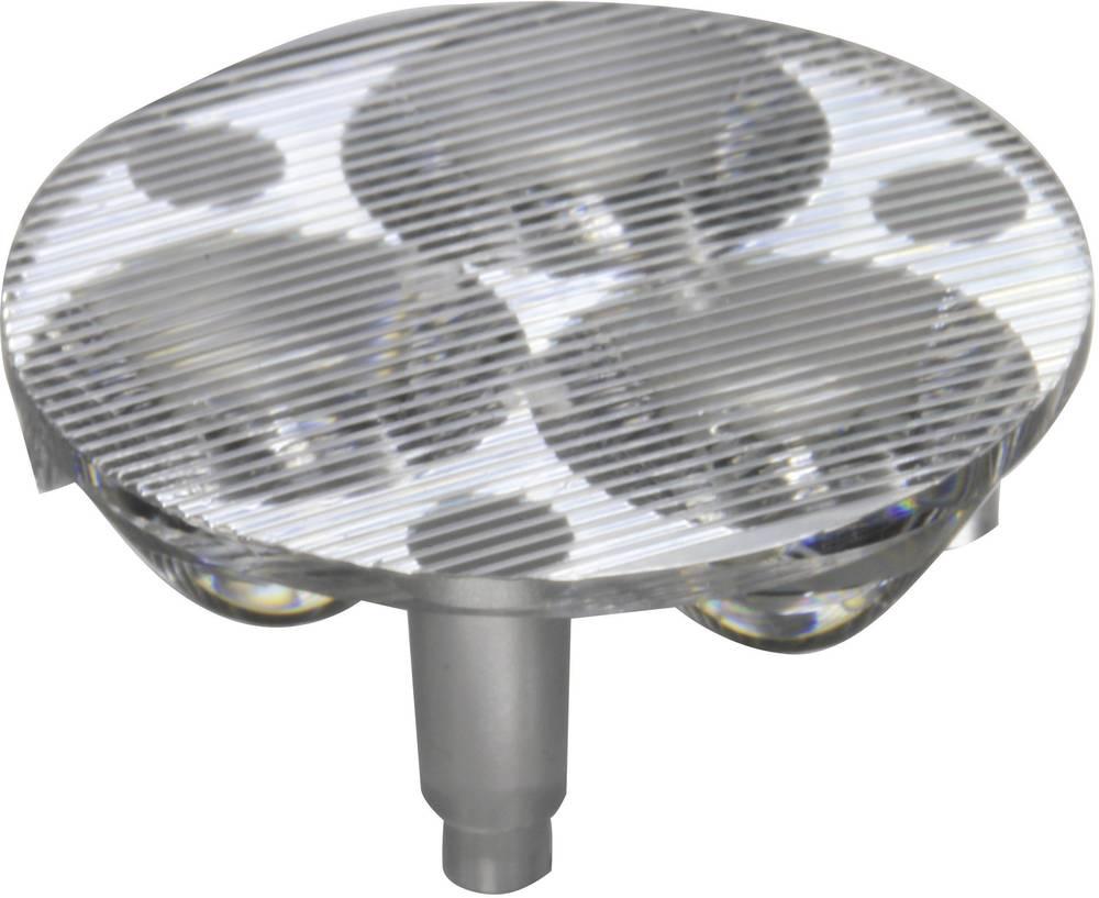 LED optika, čista, rebrasta prozorna 17 °, 46.6 ° št. LED diod (maks.): 3 za LED: Luxeon® Rebel, Seoul Semiconductor® Z5