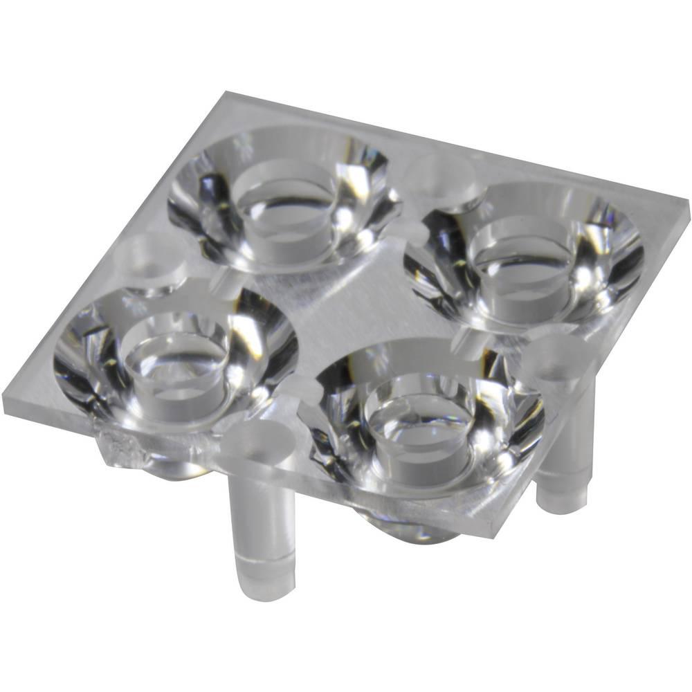 LED optika, čista prozorna 16.2 ° št. LED diod (maks.): 4 za LED: Luxeon® Rebel, Seoul Semiconductor® Z5 Carclo 10610