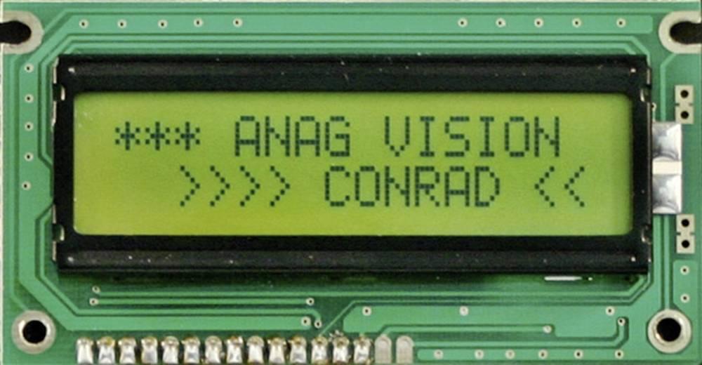 LC-display 183512 (B x H x T) 58 x 32 x 13 mm Sort Gulgrøn
