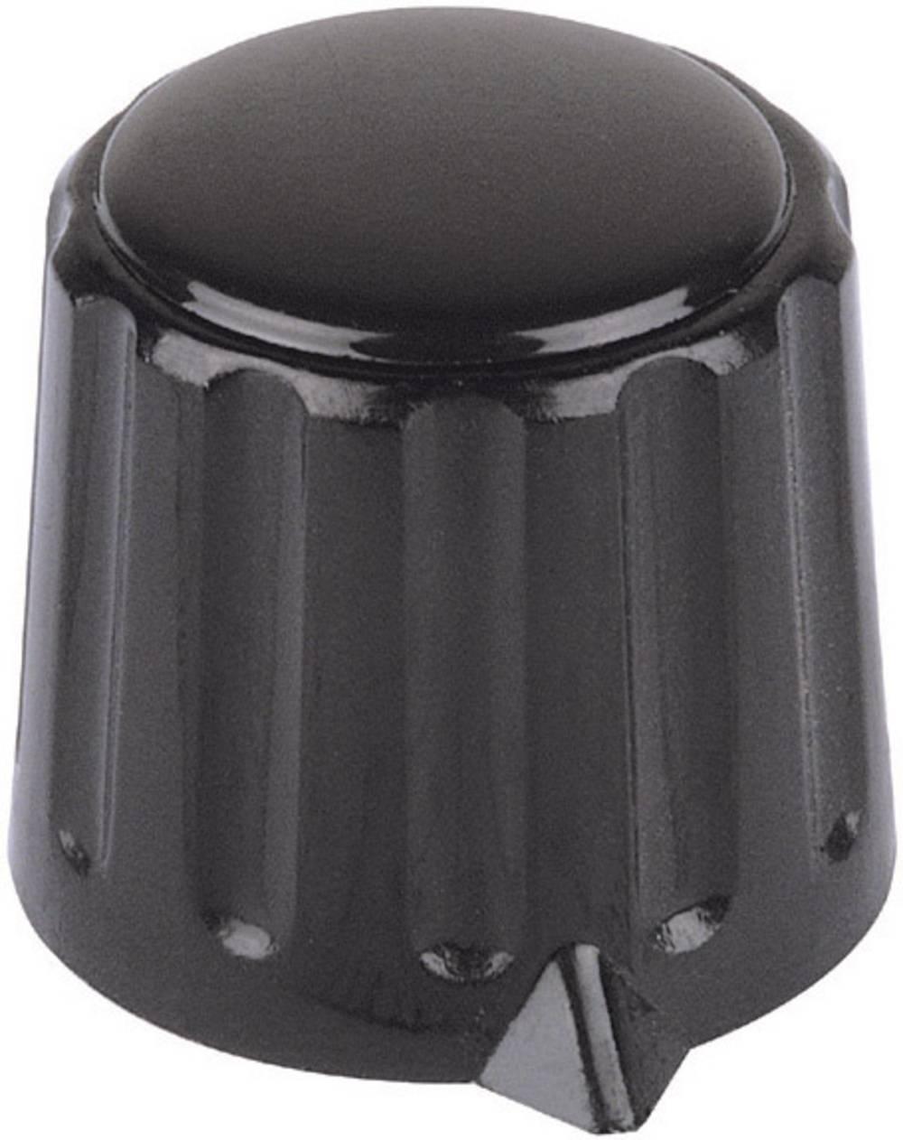 Mentor Plastični vrtljivi gumb(stezne pincete) crna promjerosi 6mm 4309.6131