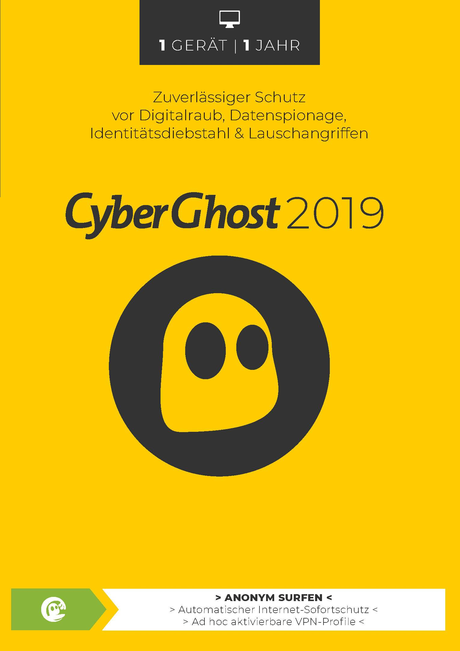 CyberGhost Full version, 1 license Windows, iOS, Android