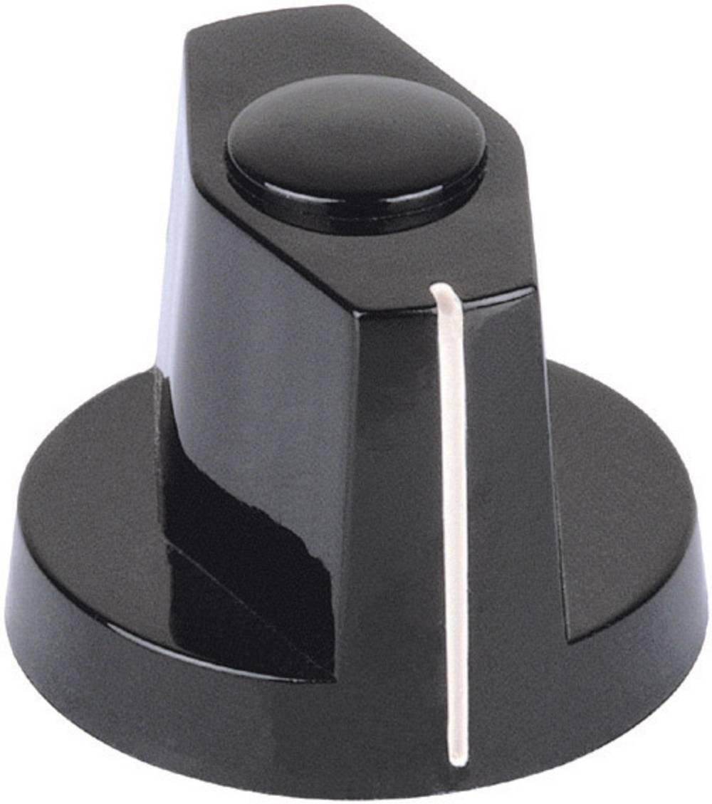 Mentor Pritisni/kazalni gumb pritiskač crna promjer osi 4mm 355.41