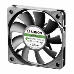 Aksial ventilator 12 V/DC 27.18 m³/h (L x B x H) 60 x 60 x 10 mm Sunon MB60101V1-0000-A99