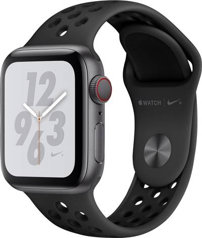 Apple Watch Series 4 Nike+ 40 mm Aluminium Spaceship grey Black, Anthracite cheapest retail price