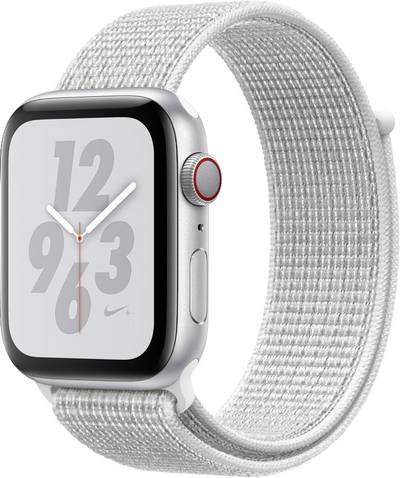 Apple Watch Series 4 Nike+ 44 mm Aluminium Silver Sport strap White cheapest retail price