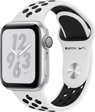 Apple Watch Series 4 Nike+ 40 mm Aluminium Silver Sport strap Platinum, Black cheapest retail price