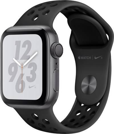 Apple Watch Series 4 Nike+ 40 mm Aluminium Spaceship grey Sport strap Black, Anthracite cheapest retail price