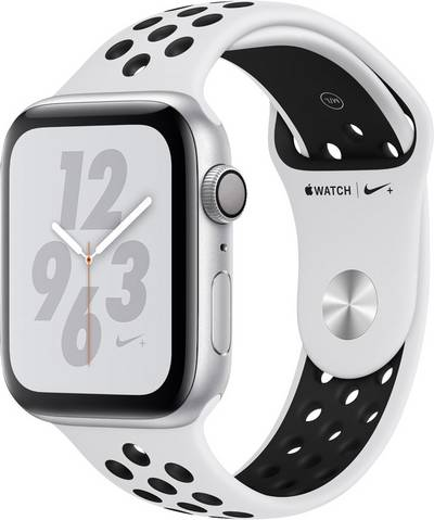 Apple Watch Series 4 Nike+ 44 mm Aluminium Silver Sport strap Platinum, Black cheapest retail price