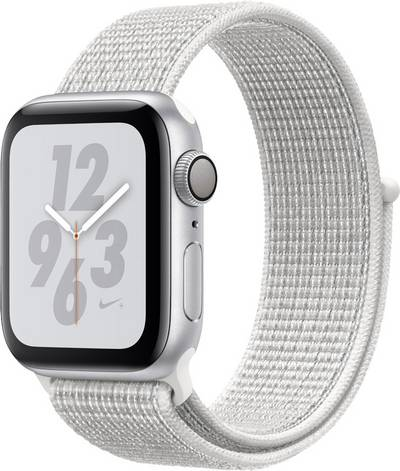Apple Watch Series 4 Nike+ 40 mm Aluminium Silver Sport strap White cheapest retail price