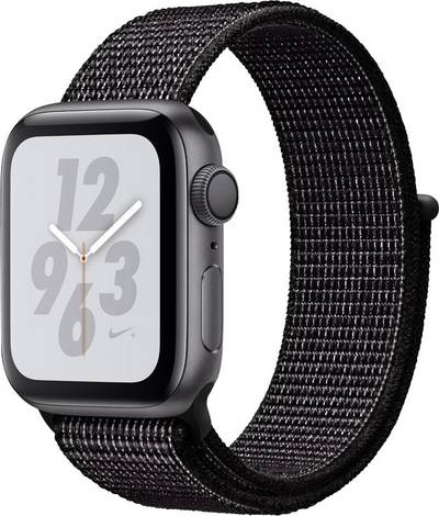 Apple Watch Series 4 Nike+ 40 mm Aluminium Spaceship grey Sport strap Black cheapest retail price