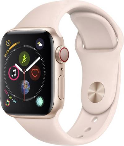 Apple Watch Sport Series 4 40 mm Aluminium Gold Sport strap Sand pink cheapest retail price