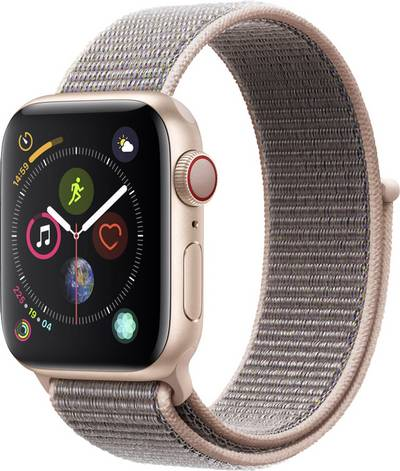 Apple Watch Sport Series 4 40 mm Aluminium Gold Sport strap Pink cheapest retail price
