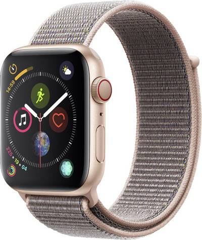 Apple Watch Sport Series 4 44 mm Aluminium Gold Sport strap Pink cheapest retail price