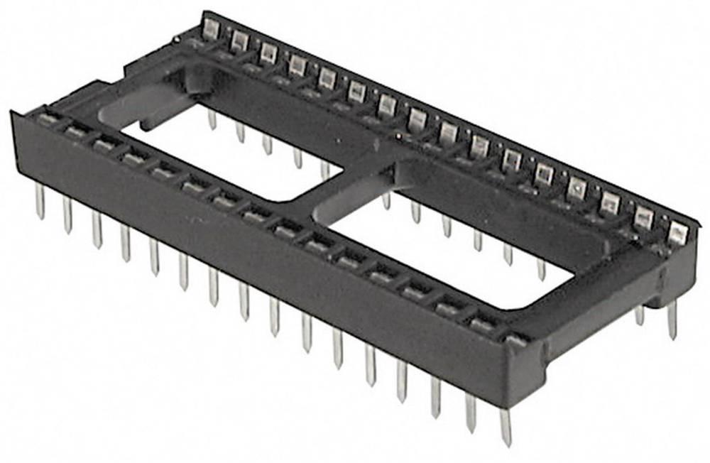 IC podnožje, raster: 7.62 mm št. polov: 18 TRU Components A 18-LC-TT 1 kos
