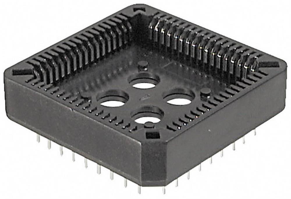 PLCC podnožje, raster: 12.7 mm št. polov: 44 TRU Components A-CCS 044-Z-T 1 kos